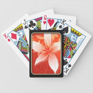 Tangerine Flower Playing Cards