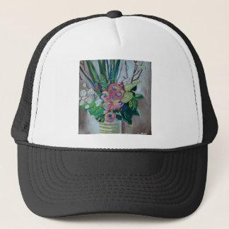 Tangerine Flowers Trucker Hat