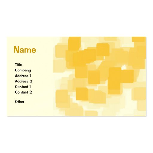 """""""Tangerine"""" Geometric  Art Double-Sided Standard Business Cards (Pack Of 100)"""