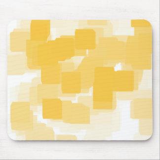 """Tangerine"" Geometric  Art Mouse Pad"