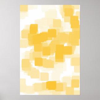 """Tangerine"" Geometric  Art Poster"