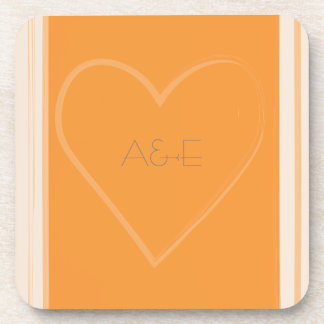 Tangerine Heart Collection Coasters