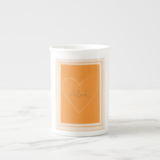 Tangerine Heart Collection Mug