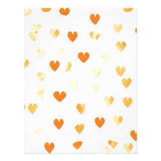 Tangerine Hearts Letterhead