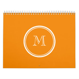 Tangerine High End Colored Calendar