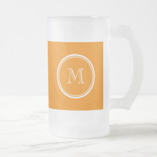 Tangerine High End Colored Frosted Glass Beer Mug