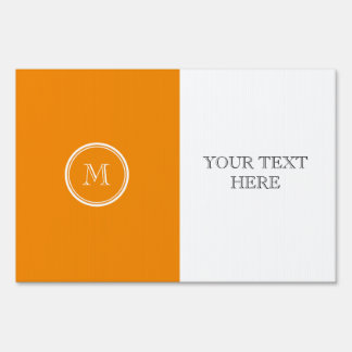 Tangerine High End Colored Sign