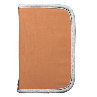 Tangerine High End Solid Color Folio Planner