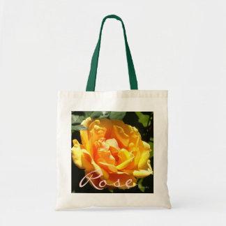 Tangerine Ice Rose Tote Bag