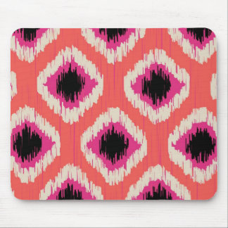 Tangerine Ikat - by TDStudio Mouse Pad