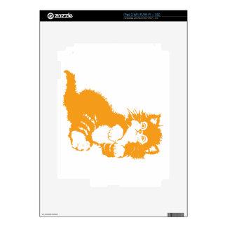 Tangerine Kitten Decals For iPad 2