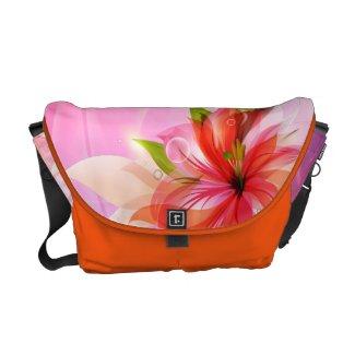 Tangerine Lily Floral Rickshaw rickshawmessengerbag