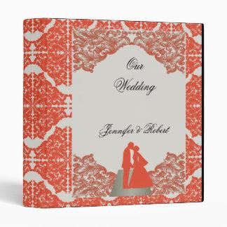 Tangerine Mocha Vintage Silhouette Wedding Binder