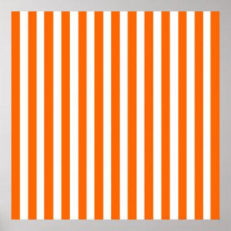 Tangerine Modern Stripes Poster