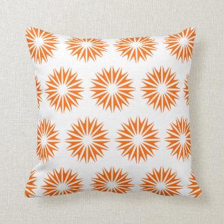 Tangerine Modern Sunbursts Pillows