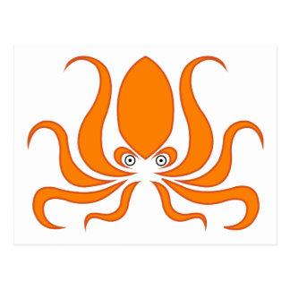 Tangerine Octopus Octopi Postcard