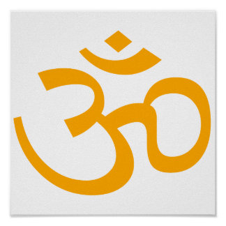 Tangerine Om or Aum ॐ.png Posters