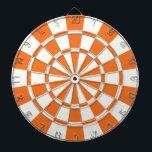 "Tangerine Orange And White Dartboard<br><div class=""desc"">Tangerine Orange And White Dart Board</div>"