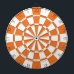"Tangerine Orange And White Dartboard<br><div class=""desc"">Tangerine Orange And White Dart Board</div>"
