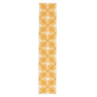 Tangerine Orange and White Floral Damask Medium Table Runner