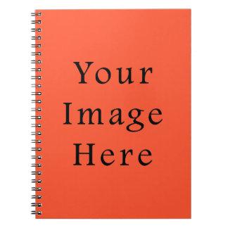 Tangerine Orange Color Trend Blank Template Notebook