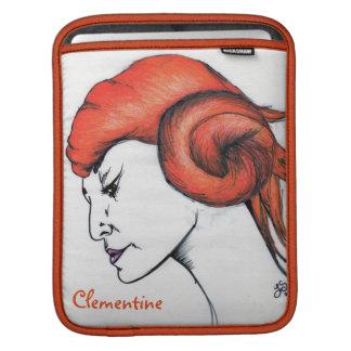Tangerine Orange Haired Girl Art iPad Sleeve
