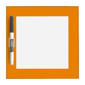 Tangerine Orange High End Colored Dry Erase Board