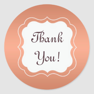 "Tangerine Orange Monogram ""Thank You"" Sticker"
