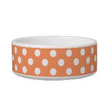 Tangerine Orange Polka Dots Circles Bowl