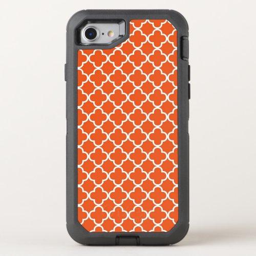 Tangerine Orange Quatrefoil Pattern Phone Case