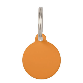 Tangerine Orange template to personalize Customize Pet ID Tag