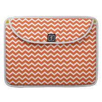 Tangerine Orange Zig Zag Chevrons Pattern Sleeve For MacBooks