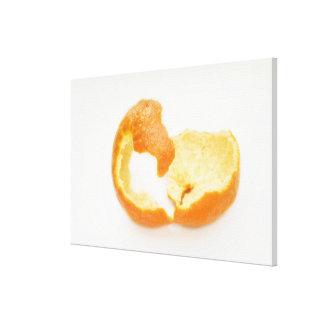Tangerine peel canvas print