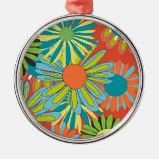 Tangerine pop flowers ornaments