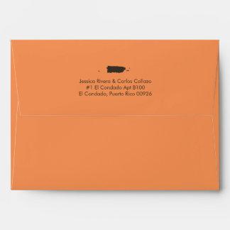 Tangerine Puerto Rico Map Envelope