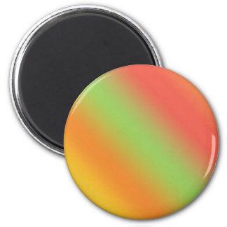 Tangerine Rainbow 2 Inch Round Magnet