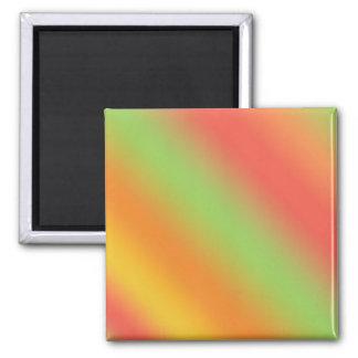 Tangerine Rainbow 2 Inch Square Magnet