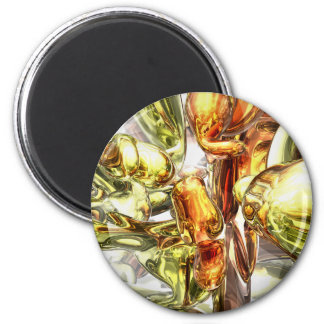 Tangerine Rapture Abstract Magnet