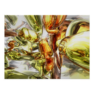 Tangerine Rapture Abstract Poster