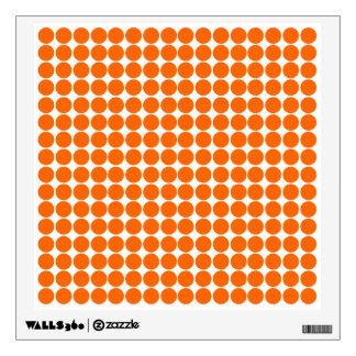 Tangerine Safari Dot Room Graphics