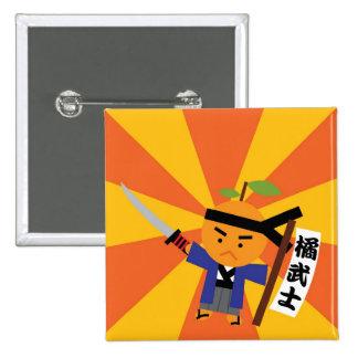 Tangerine Samurai Button