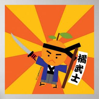 Tangerine Samurai Poster