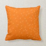Tangerine Skies Throw Pillow