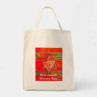 Tangerine Star of David Tote Bag