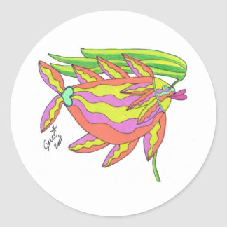 Tangerine, Strawberry, and Lime Classic Round Sticker