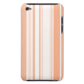 Tangerine Stripes Varied Sizes Geometric Pattern Barely There iPod Case