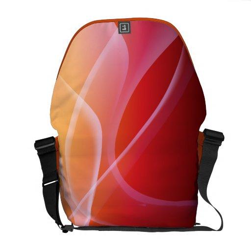 Tangerine Summer Abstract Rickshaw Messenger Bag
