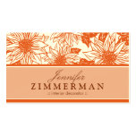Tangerine Sunflowers Floral Business Card