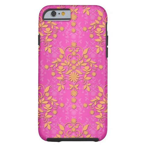 Tangerine Tango Daisy Damask iPhone 6 Case
