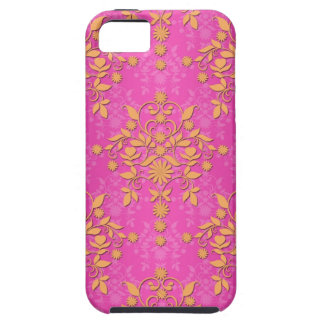 Tangerine Tango Daisy Damask iPhone SE/5/5s Case